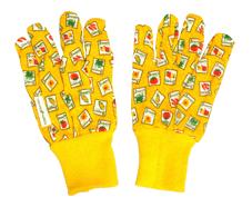 Перчатки садовые 6711 Y в комплекте 6 пар двух видов