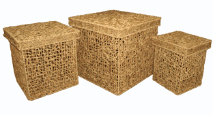 Корзина плетёная (3шт) (40*40*40см) 7К121