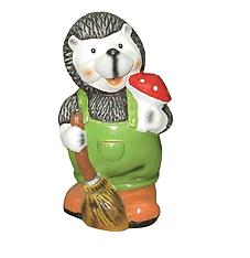 Ёжик с корзинкой 24.02 - фигура садовая (29см)