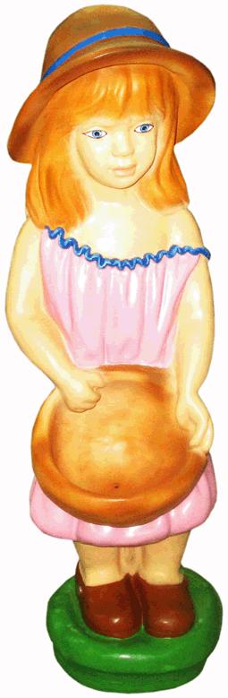 Девочка с корзиной (H-66см) 2.43