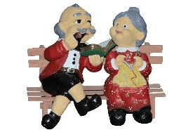 Дед с бабкой на лавке (Н-29см) - 2,47