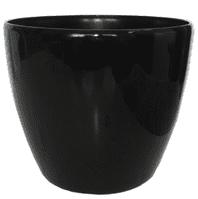 Кашпо (d-21/h-17см) цвет:чёрный PK-35960