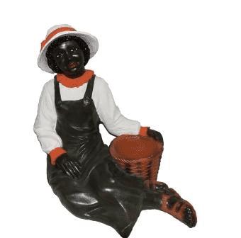 Негритянка с кашпо (H-58см) - 32.32