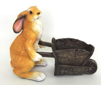 Заяц с тачкой (L-37/H-31см) - 28.15