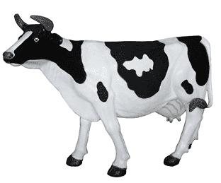 Фигура садовая Корова большая, для улицы и помещений,  (160*220*58см)