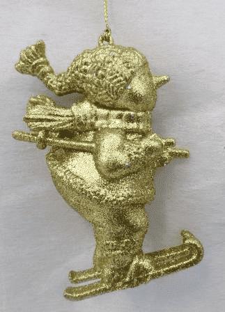 Cнеговик -ёлочное украшение (H-11см) WU-38548