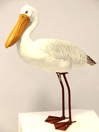 Мини Пеликан-фигура для сада, (H-36см) CM-4459