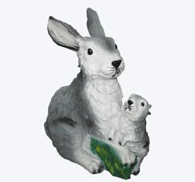 Заяц с зайчонком - 28.02(32*39см)