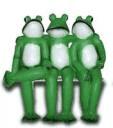 Жабы (3 шт) на лавке 11.04- фигура садовая (45*46см)