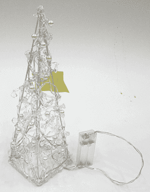 Декор новогодний светящийся (10*10*30см) DN-46405