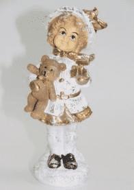 Девочка с мишкой - фигура (H-21см) - 30.68