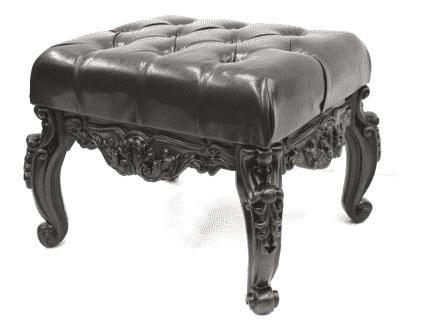 Банкетка малая, (53*43*45см), орех иск. камень/ иск.кожа Честер, GF21-05