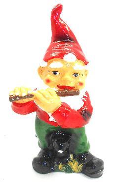Гном с флейтой малый (H-35см) 1.55