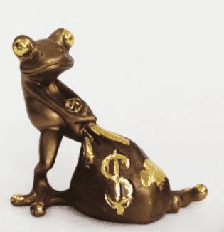 Лягушка с мешком денег (H-12см) GF25-03