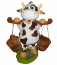 Корова с вёдрами 20.22 - фигура садовая (53*40см)