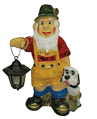 Гном с фонарём и собакой (40*65см) 1.24