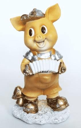 Свинка с гармошкой, (H-40см) - 14.17A