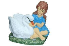 Девочка с лебедем (44*39см) - 2,54
