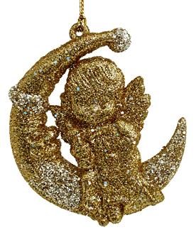 Ангел ёлочное украшение (H-8см) WU-42507