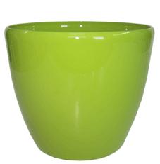Кашпо (d-12/h-11см) цвет:зелёный PK-35951