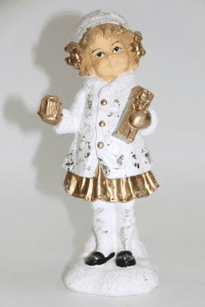 Девочка с подарками - фигура (H-24см) - 30.71