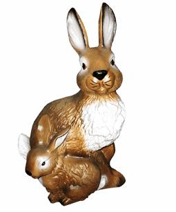 Заяц с зайчонком - 28.04(25*37см)