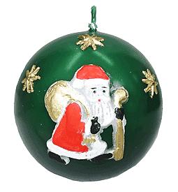 APLIKACJA K-3(№A-51) свеча-шар т.зеленый 5901259386547