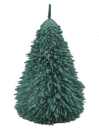 CHOINKA IGLASTA (XL) свеча, металлик зелёный 5901867533937