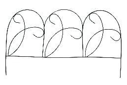Заборчик (4шт) (L-61/Н-34см) 40-1105