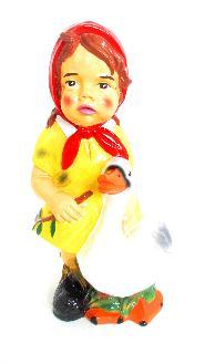 Девочка с гусём (H-45см) 2.31