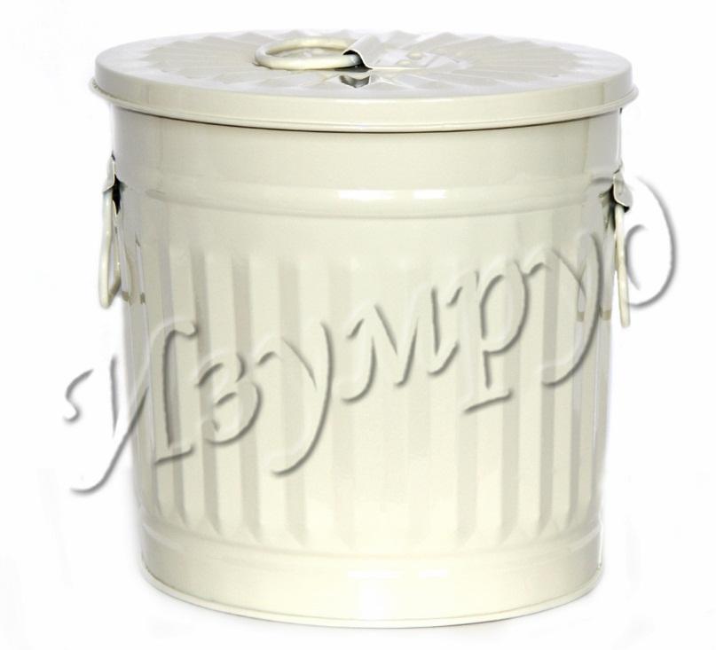 Емкость из металла - универсальная кремовый (22*22 см) GM-47280