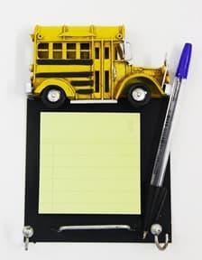 Автобус-модель с блоком отрывных листов и ручкой (17*11*2см) MR-50453