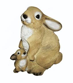 Заяц с зайчонком - 28.05(27*32см)