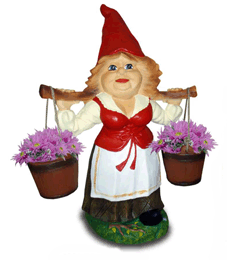 Девушка с ведрами 2.15 - фигура садовая (75см)