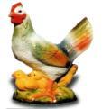 Курица 12.17 - фигура садовая (33см)