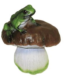 Гриб с лягушкой 7.11 (10*10*21)- фигура садовая