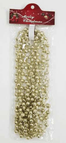Бусы новогодние (d-4; 13мм/L-4,5м) цвет: золото DN-53100