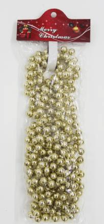 Бусы новогодние (d-12мм/L-4,5м) цвет: золото DN-53094
