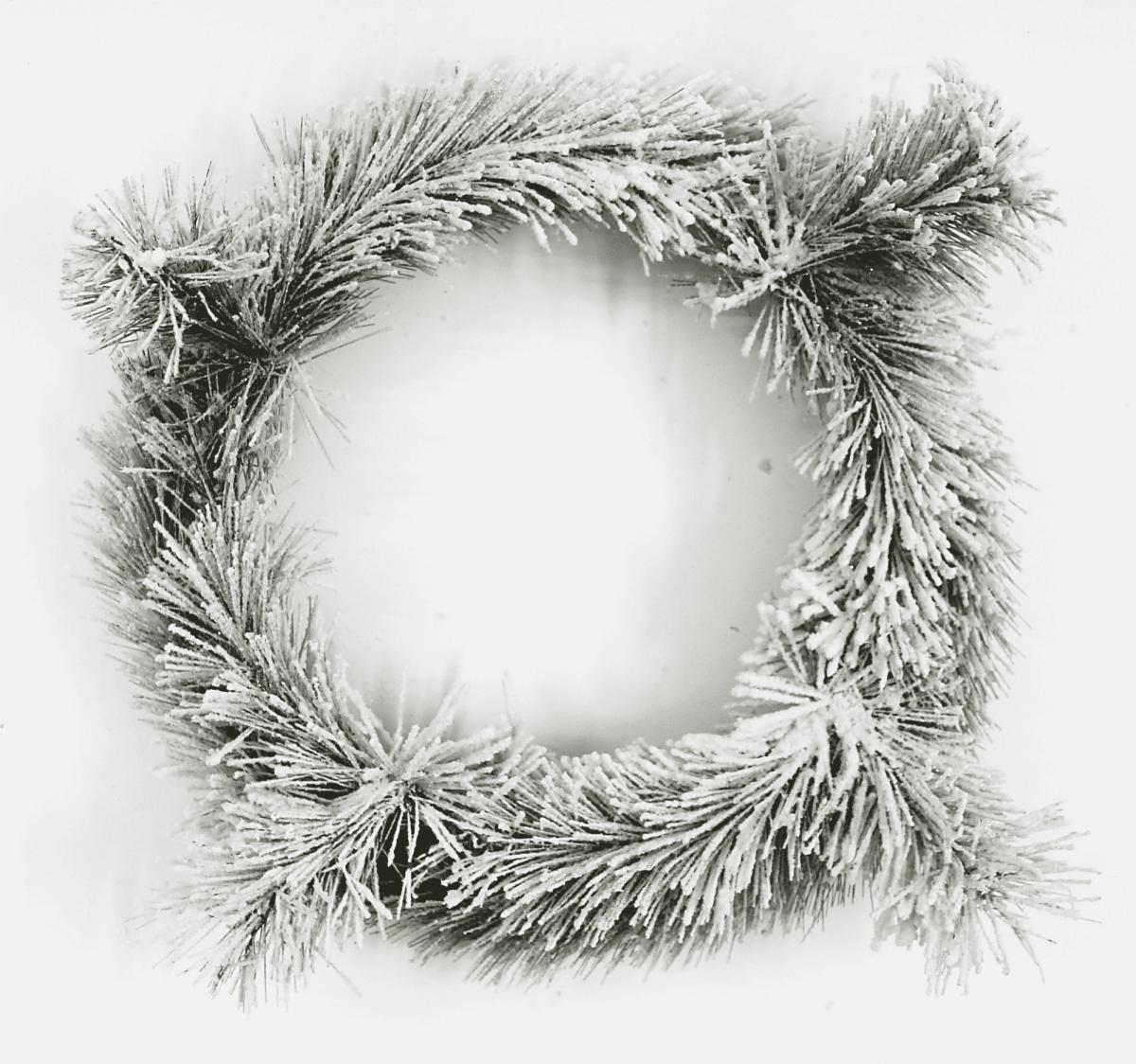 Венок хвойный заснеженный-декор новогодний (d-45см) DN42-45
