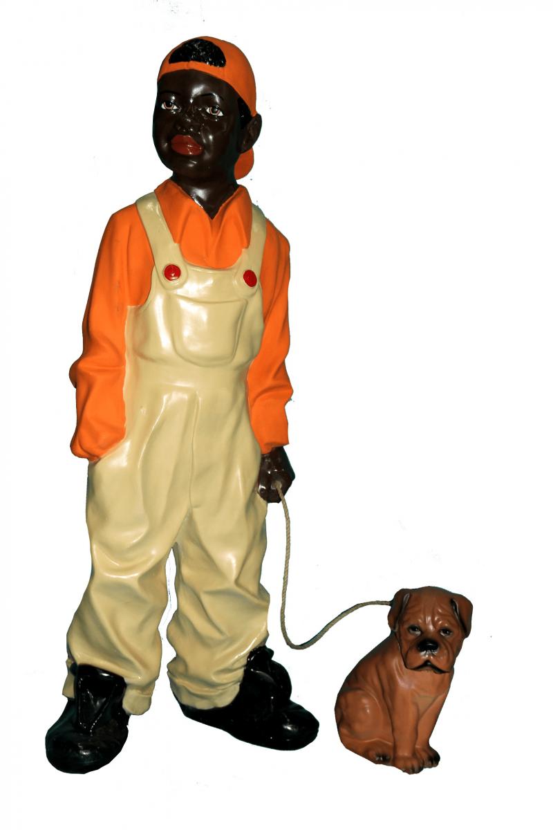 Негр с собакой (H-84см) 32.01